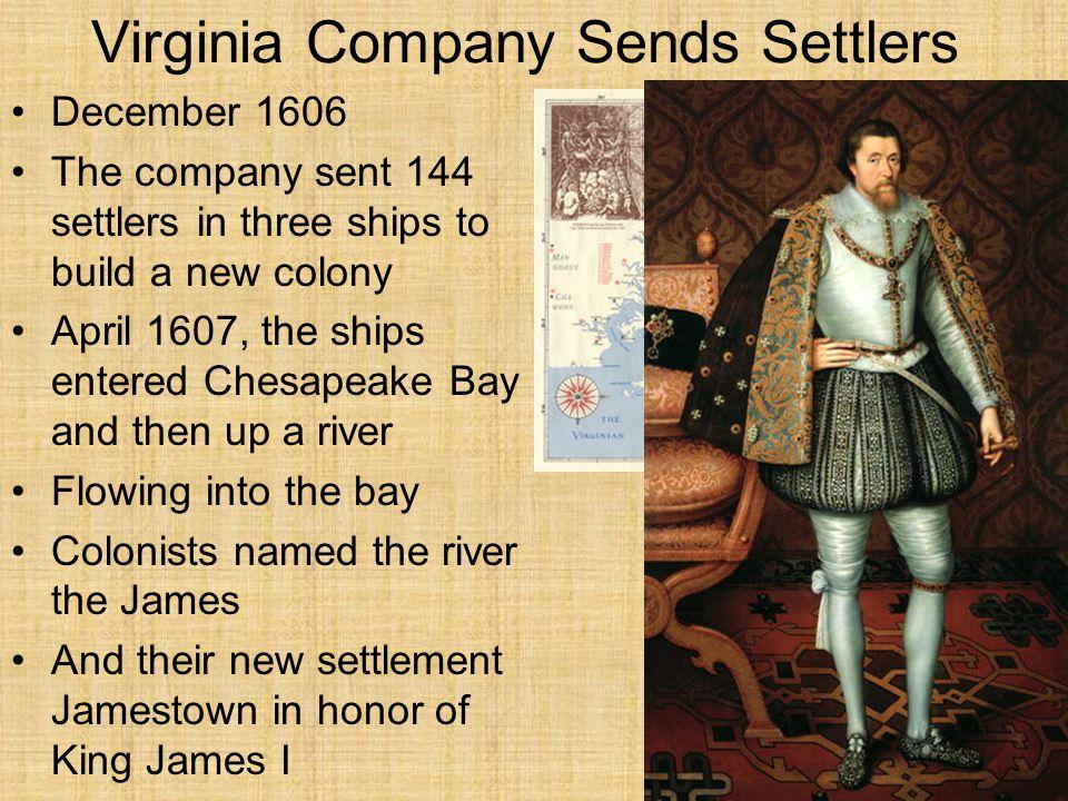Virginia Company Sends Settlers