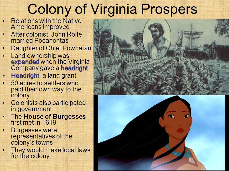 Colony of Virginia Prospers
