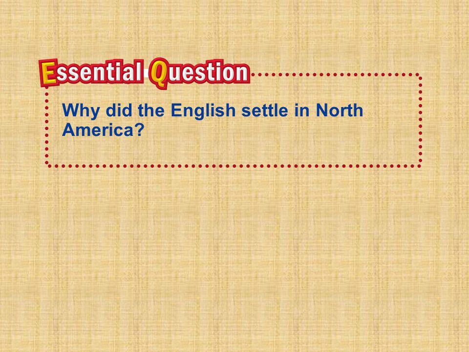 Why did the English settle in North America