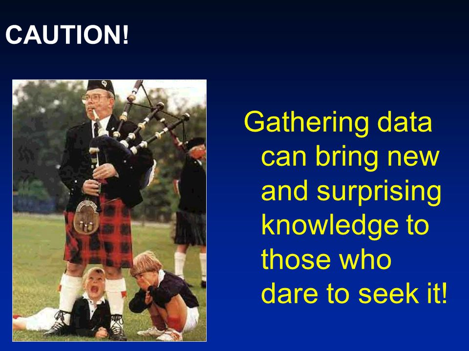 CAUTION! Gathering data can bring new and surprising knowledge to those who dare to seek it!