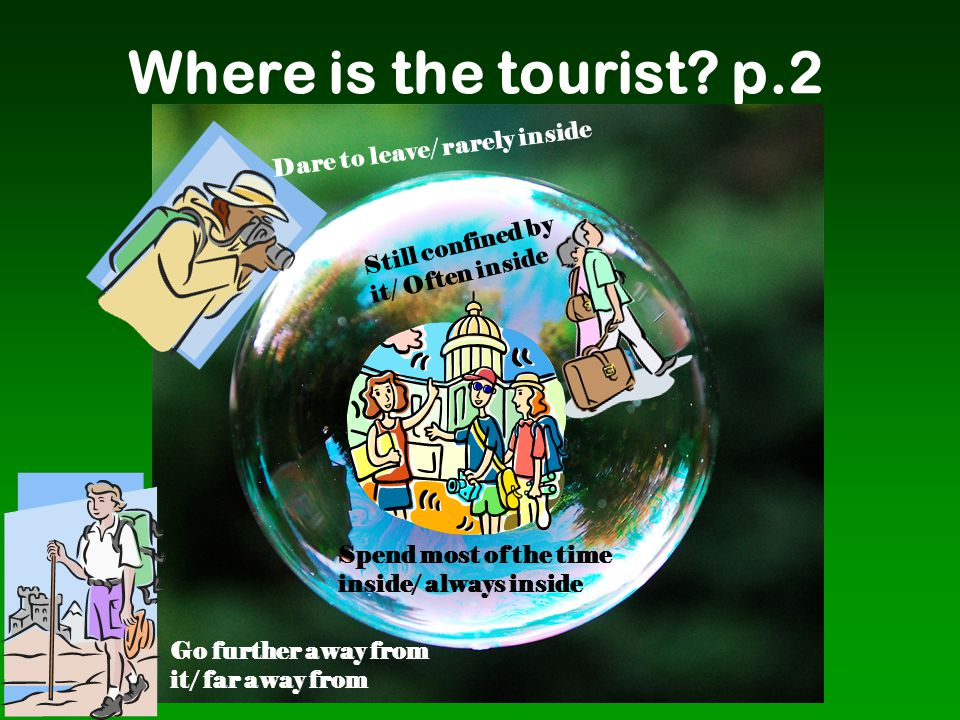 Where is the tourist p.2 Dare to leave/ rarely inside