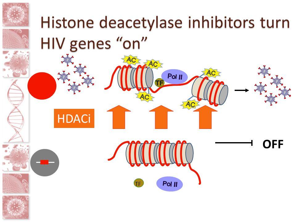 Histone deacetylase inhibitors turn HIV genes on