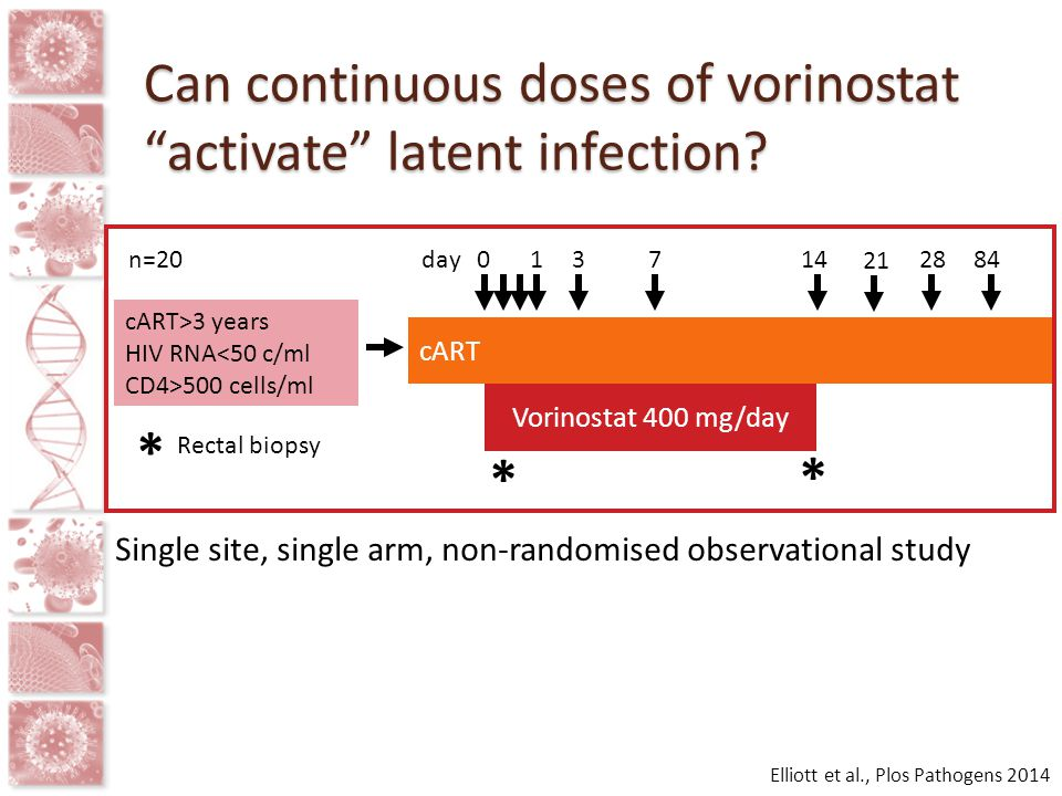Can continuous doses of vorinostat activate latent infection