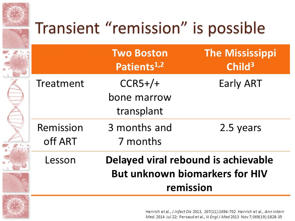 Transient remission is possible