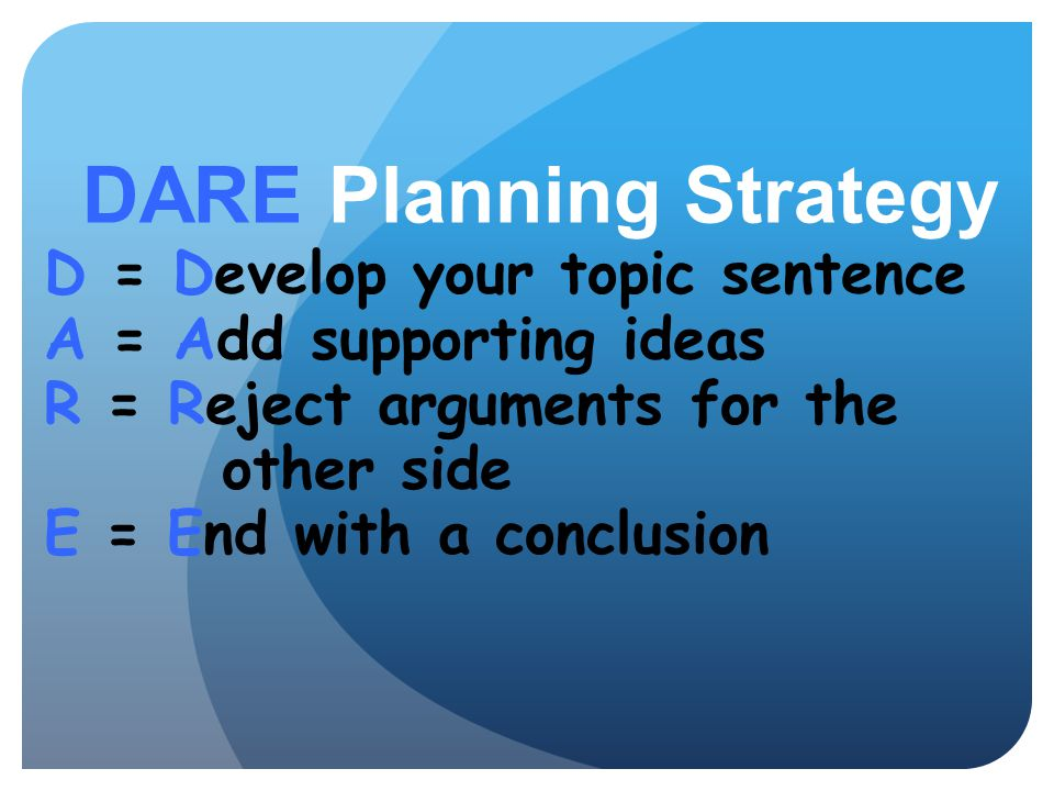 DARE Planning Strategy
