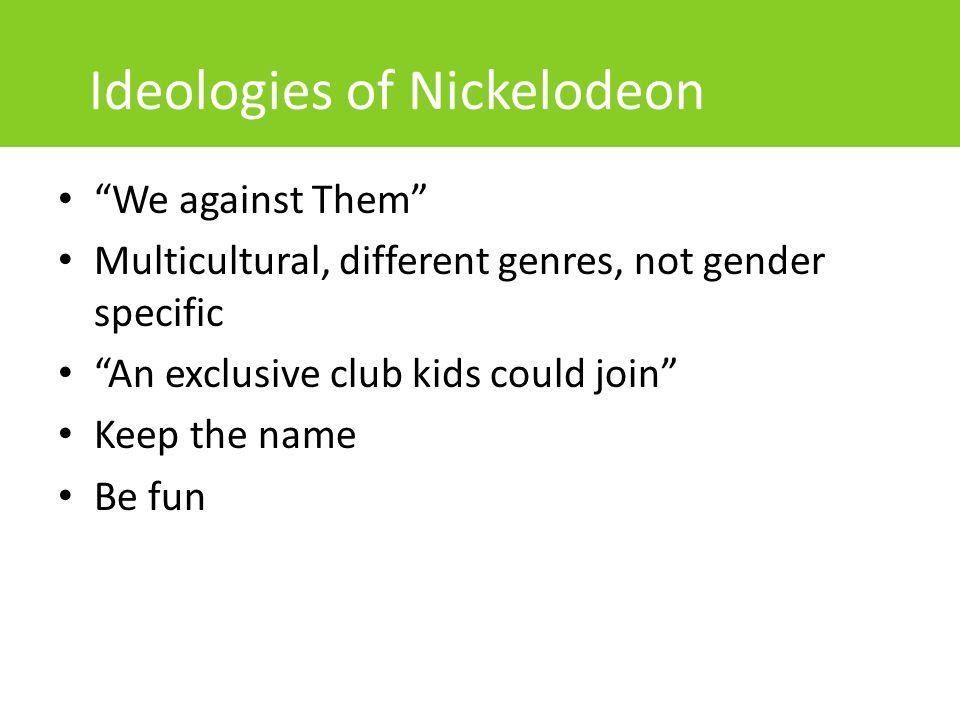 Ideologies of Nickelodeon