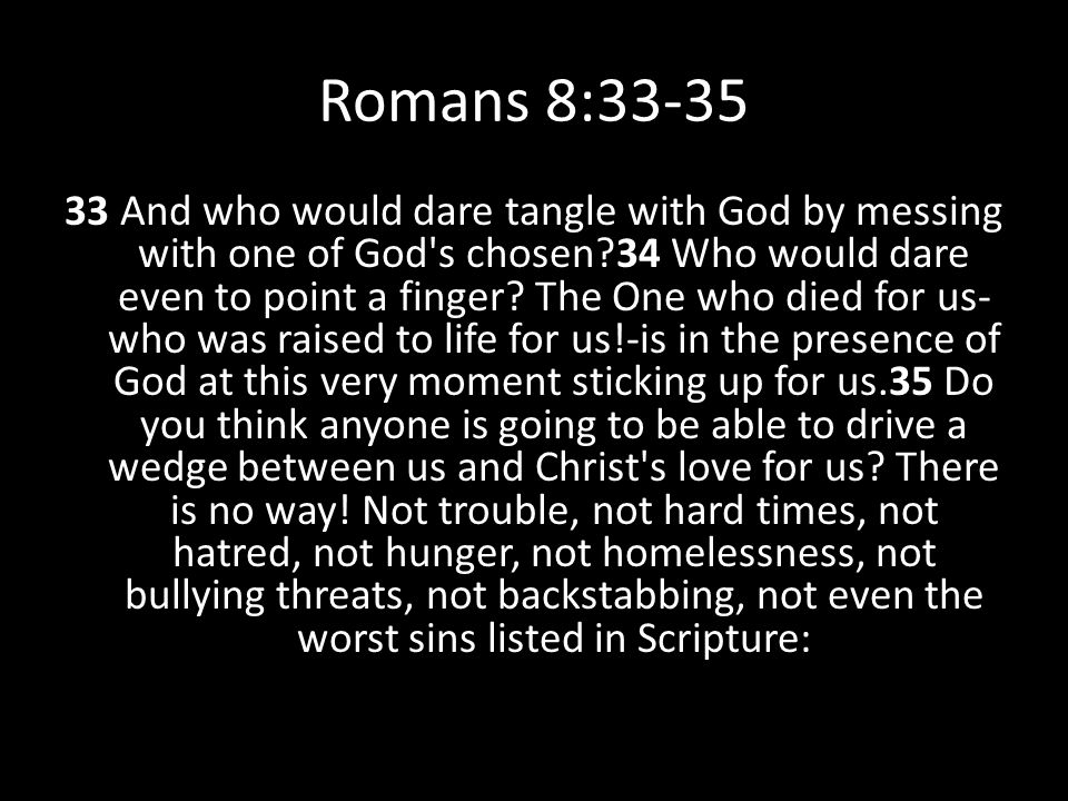 Romans 8:33-35