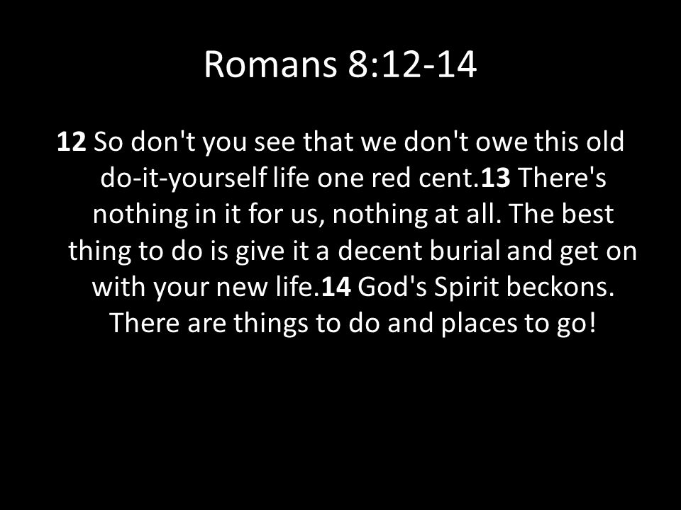 Romans 8:12-14
