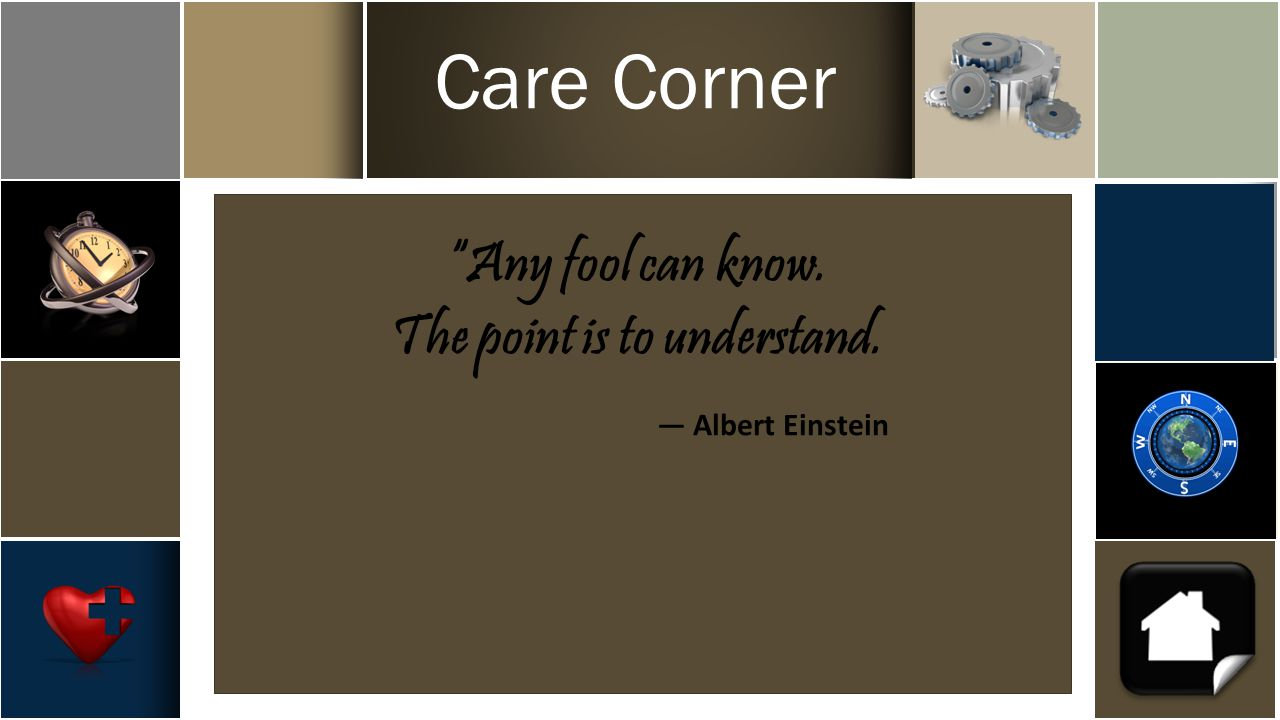 The point is to understand. ― Albert Einstein