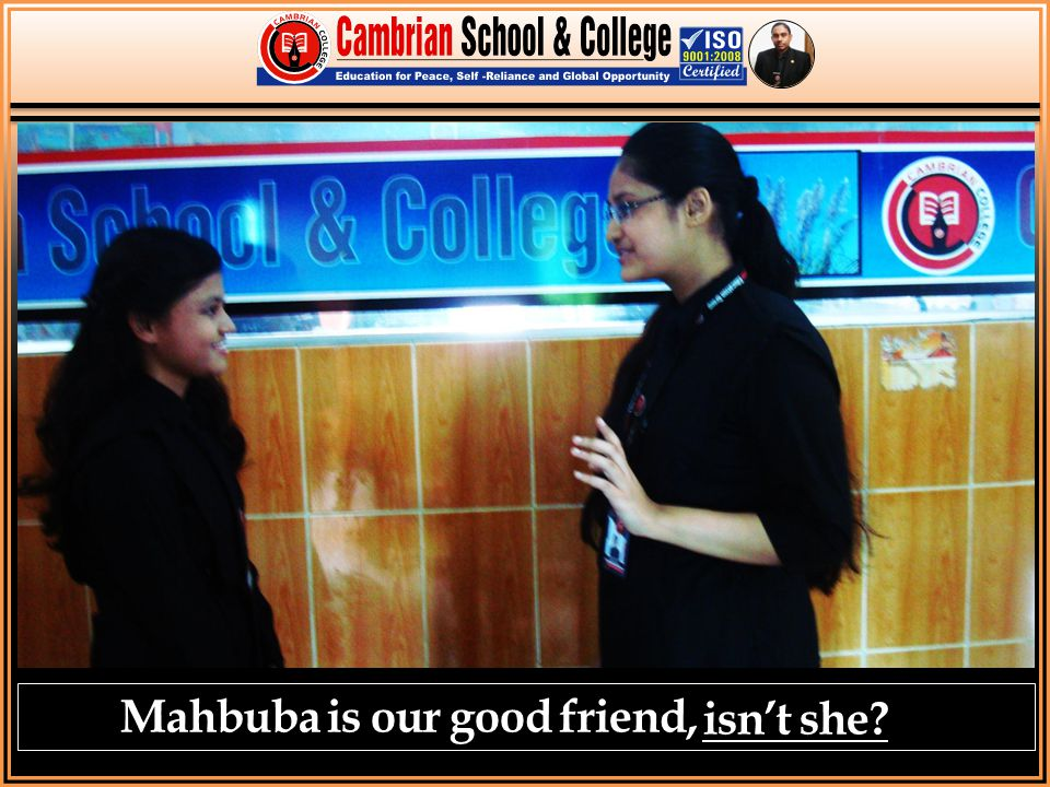 Mahbuba is our good friend, isn't she