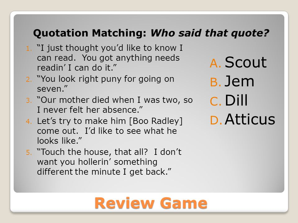 Quotation Matching: Who said that quote