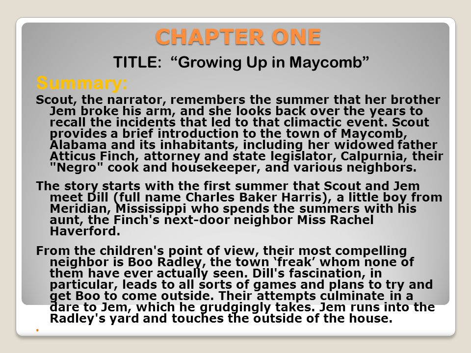 TITLE: Growing Up in Maycomb