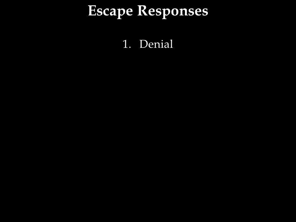 Escape Responses Denial 19