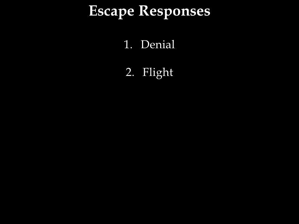 Escape Responses Denial Flight 20