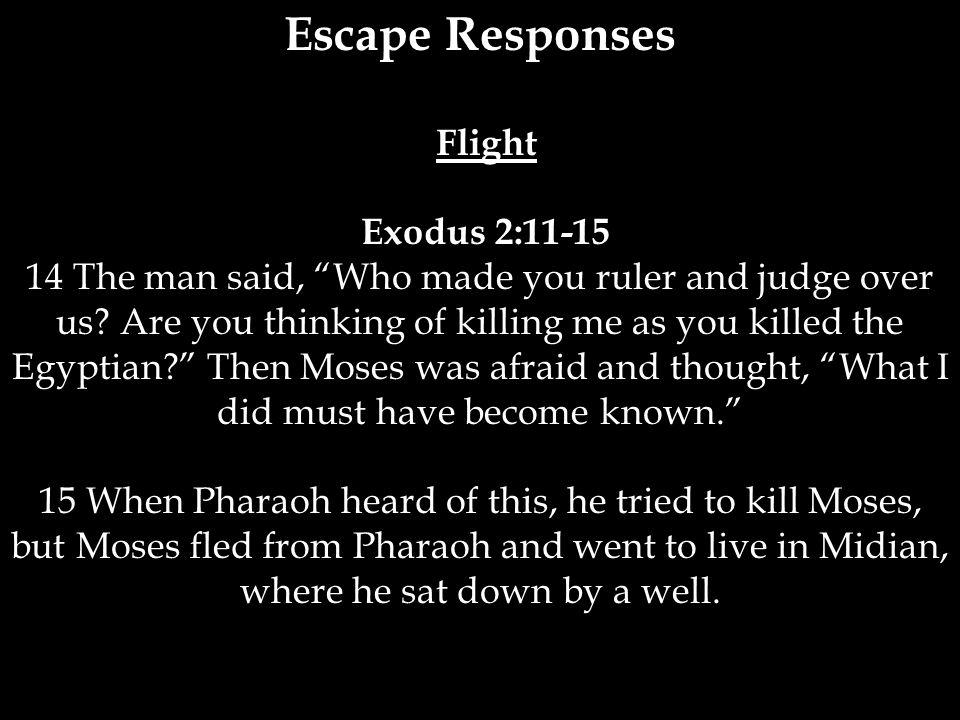 Escape Responses Flight Exodus 2:11-15