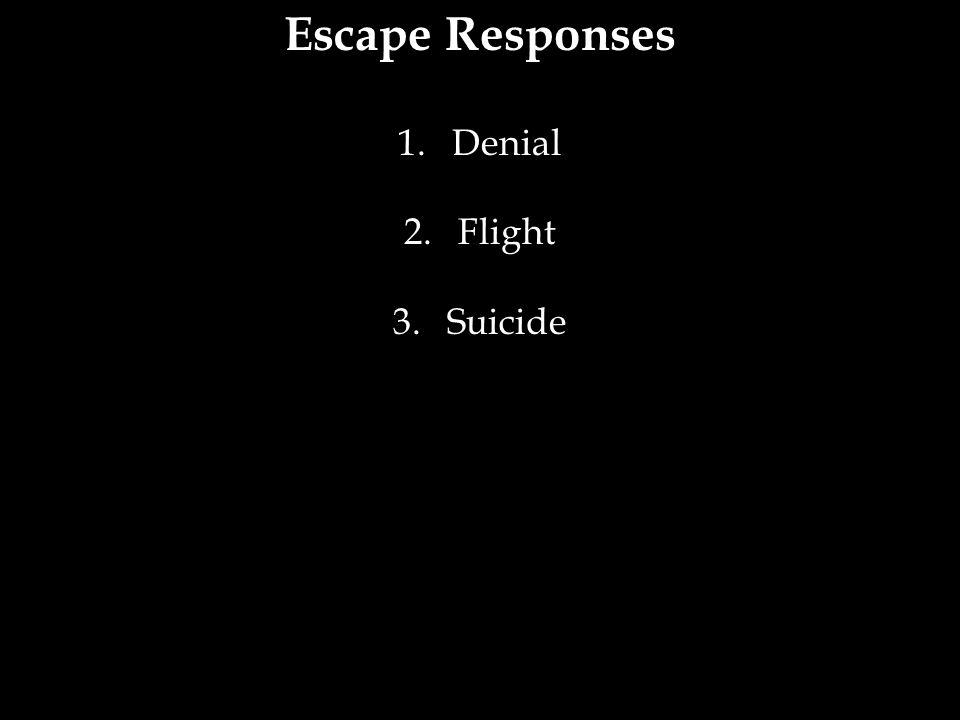 Escape Responses Denial Flight Suicide 23