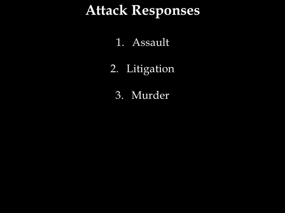 Attack Responses Assault Litigation Murder 29