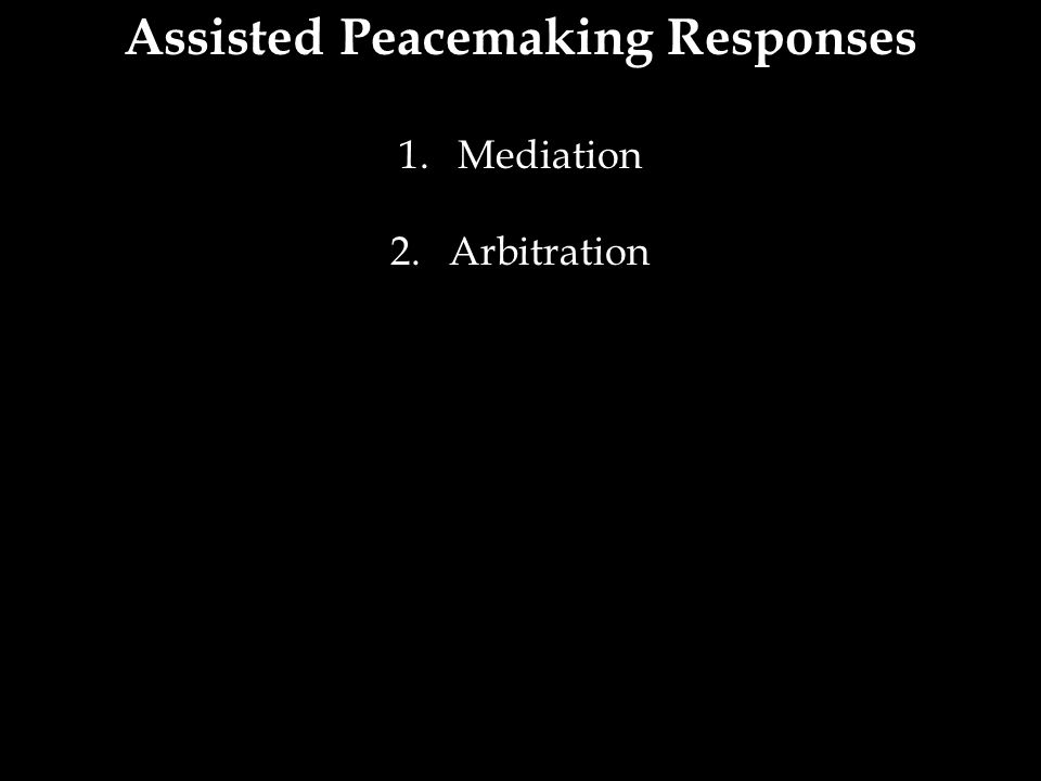 Assisted Peacemaking Responses