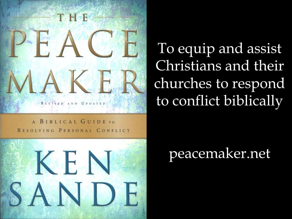 Christians and their churches to respond to conflict biblically