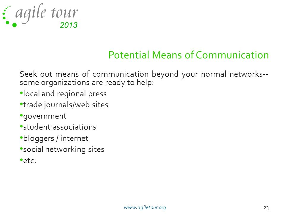 Potential Means of Communication