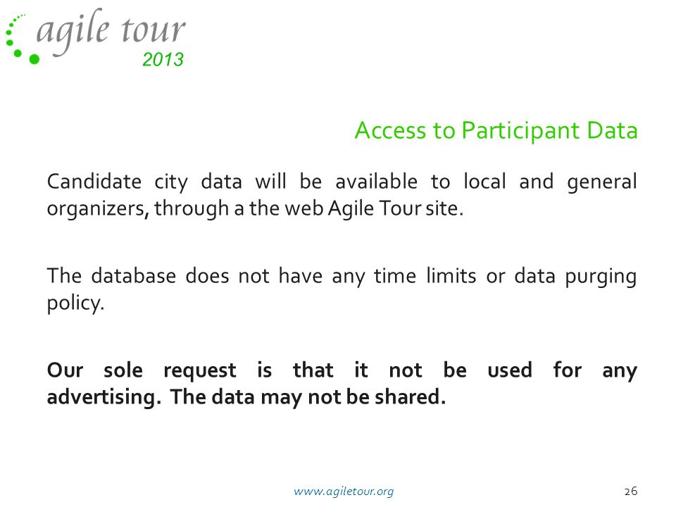 Access to Participant Data