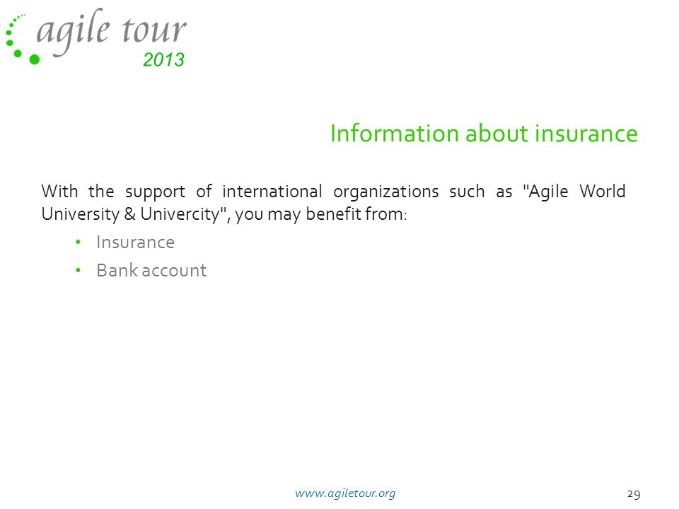 Information about insurance