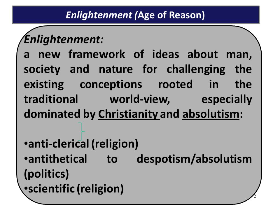 Enlightenment (Age of Reason)