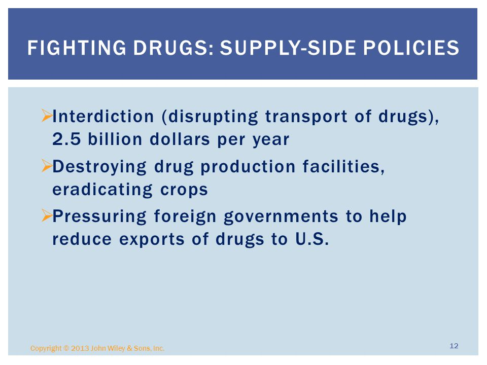 Fighting Drugs: Supply-side Policies