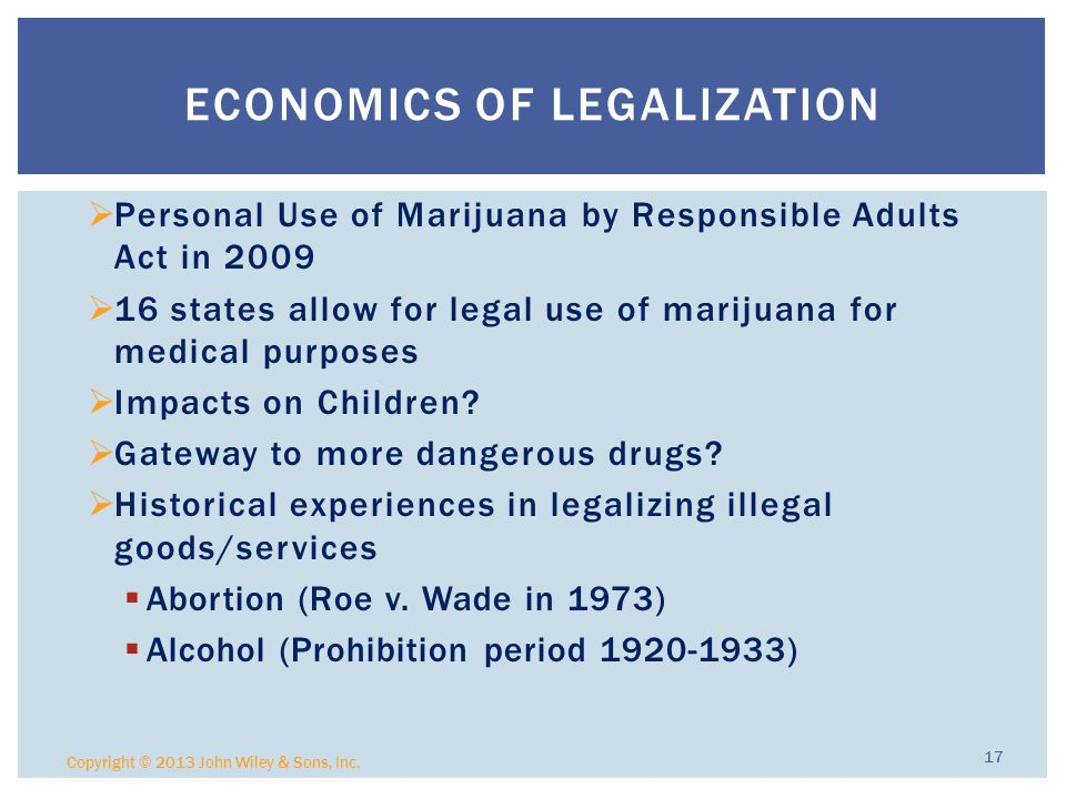 Economics of Legalization