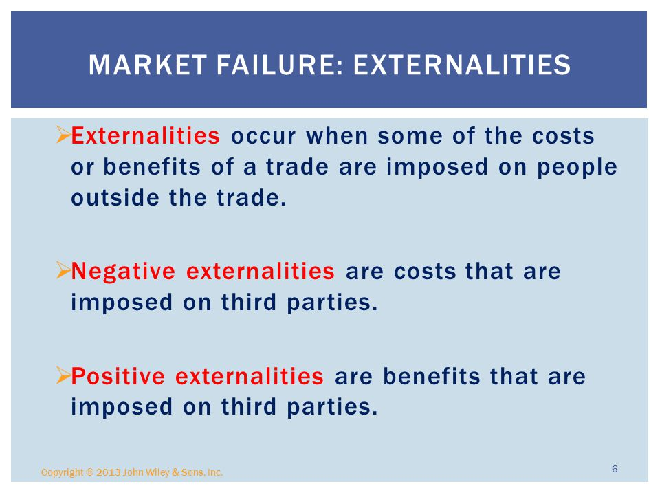 Market Failure: Externalities