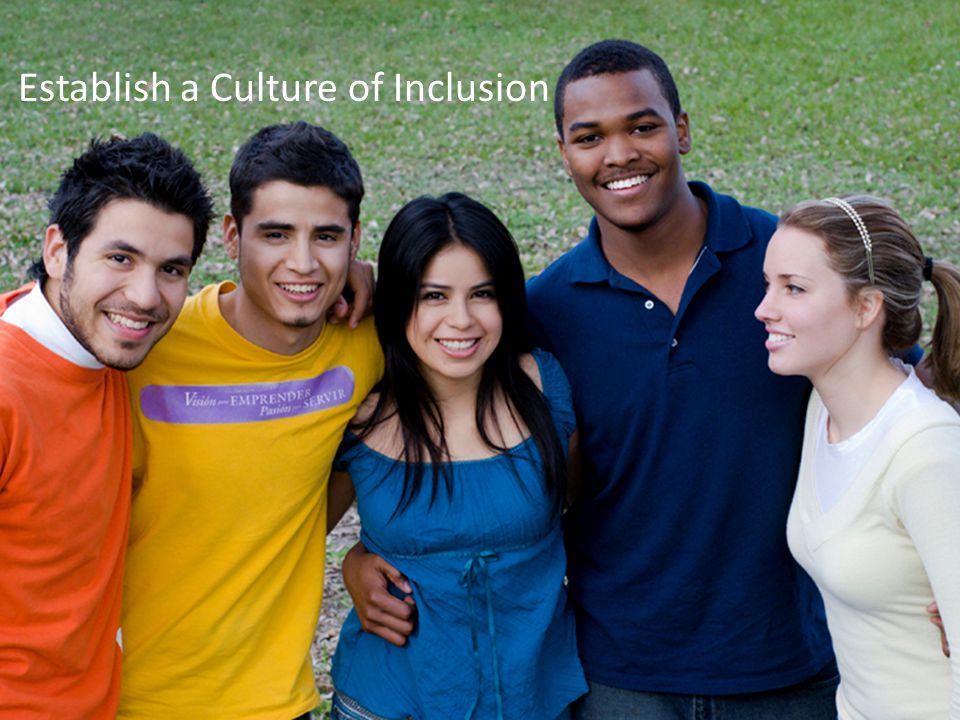 Establish a Culture of Inclusion