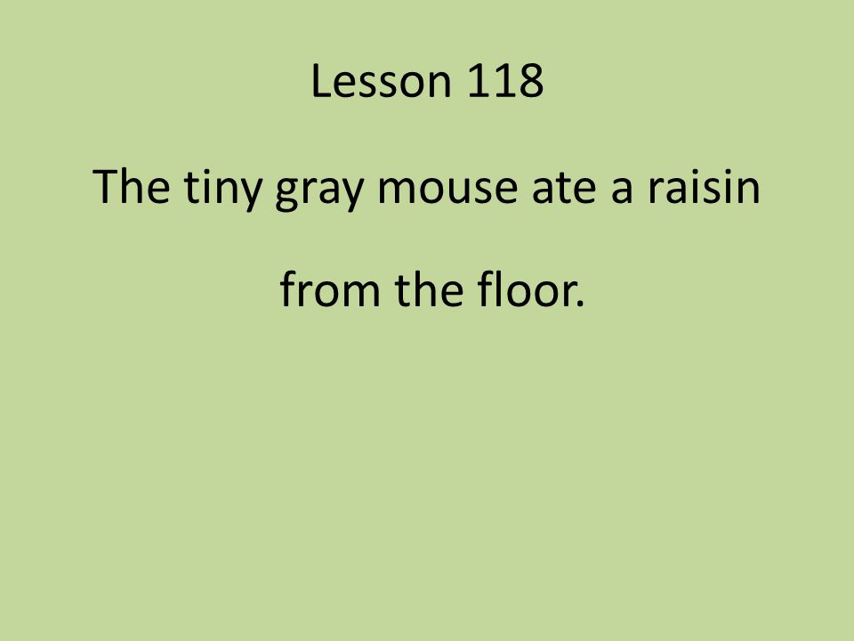 The tiny gray mouse ate a raisin from the floor.