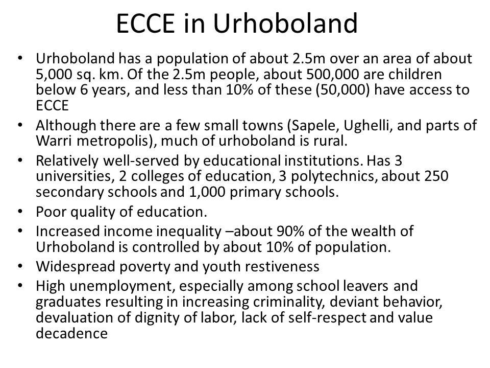 ECCE in Urhoboland