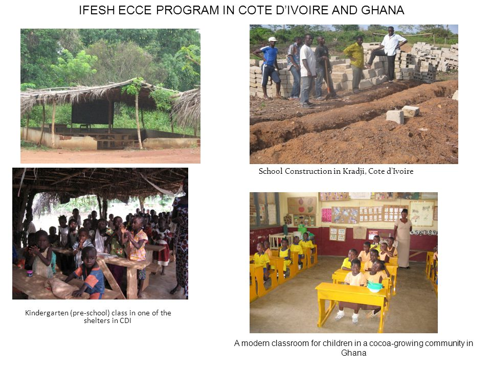 IFESH ECCE PROGRAM IN COTE D'IVOIRE AND GHANA