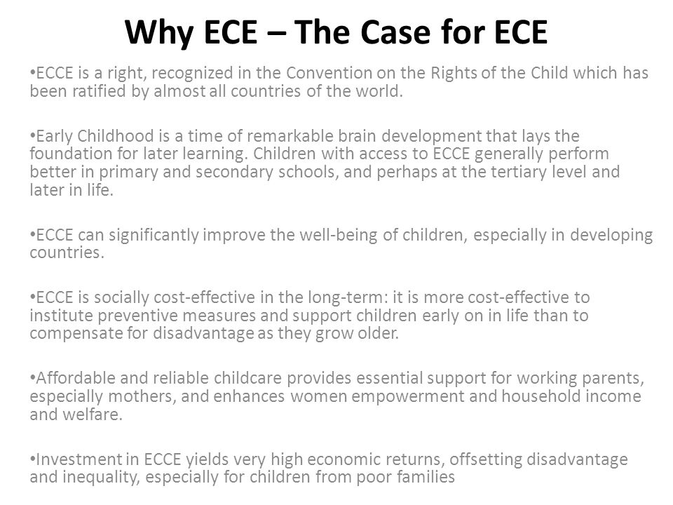 Why ECE – The Case for ECE