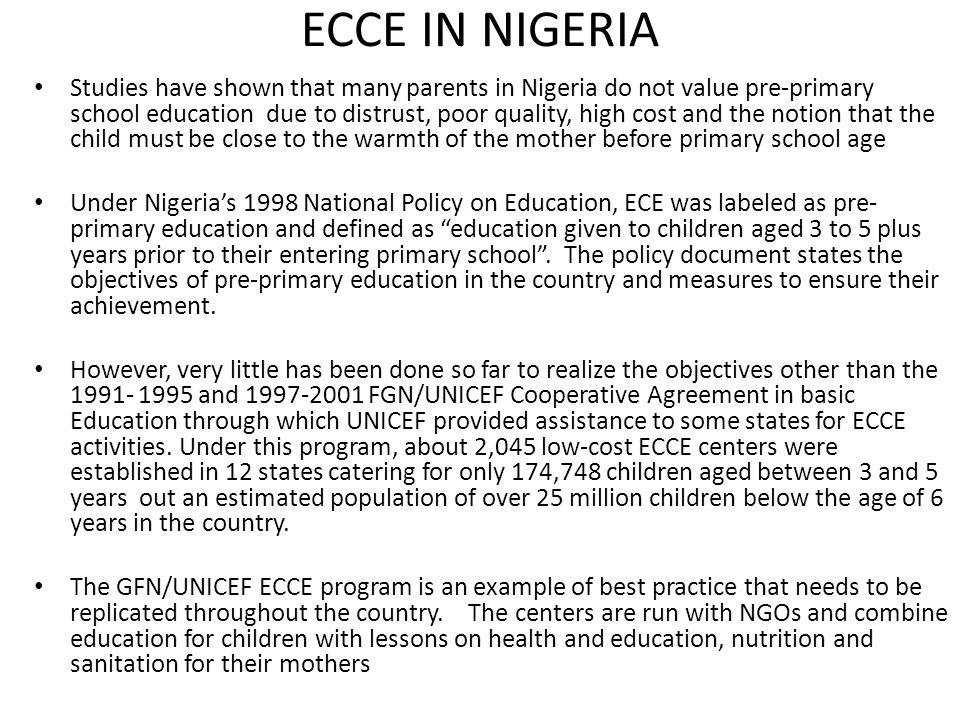 ECCE IN NIGERIA