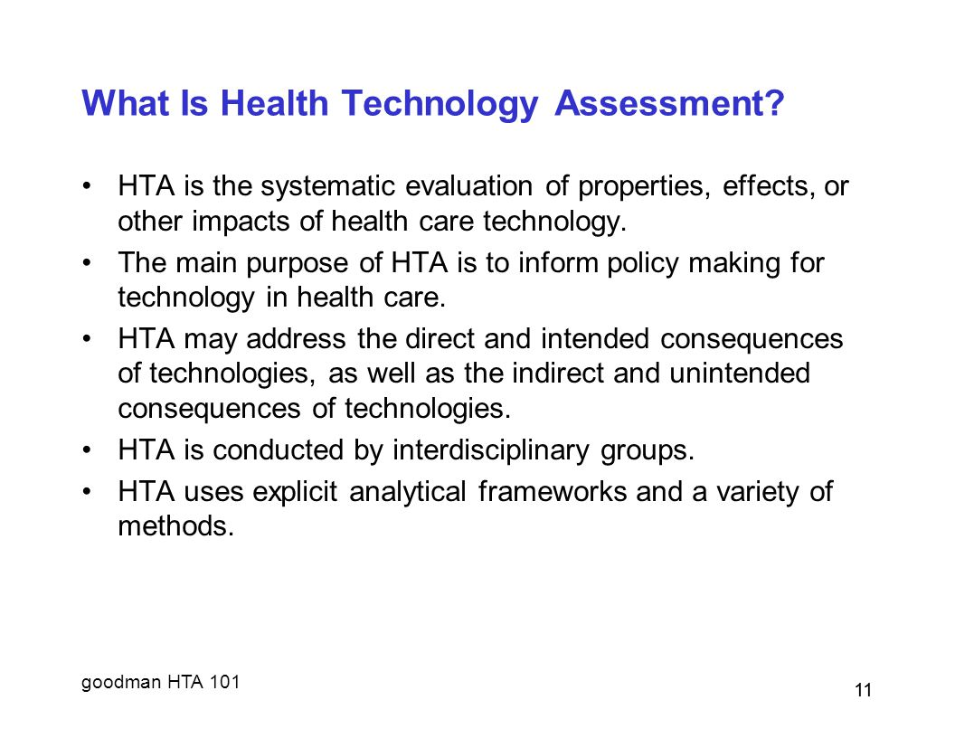 What Is Health Technology Assessment