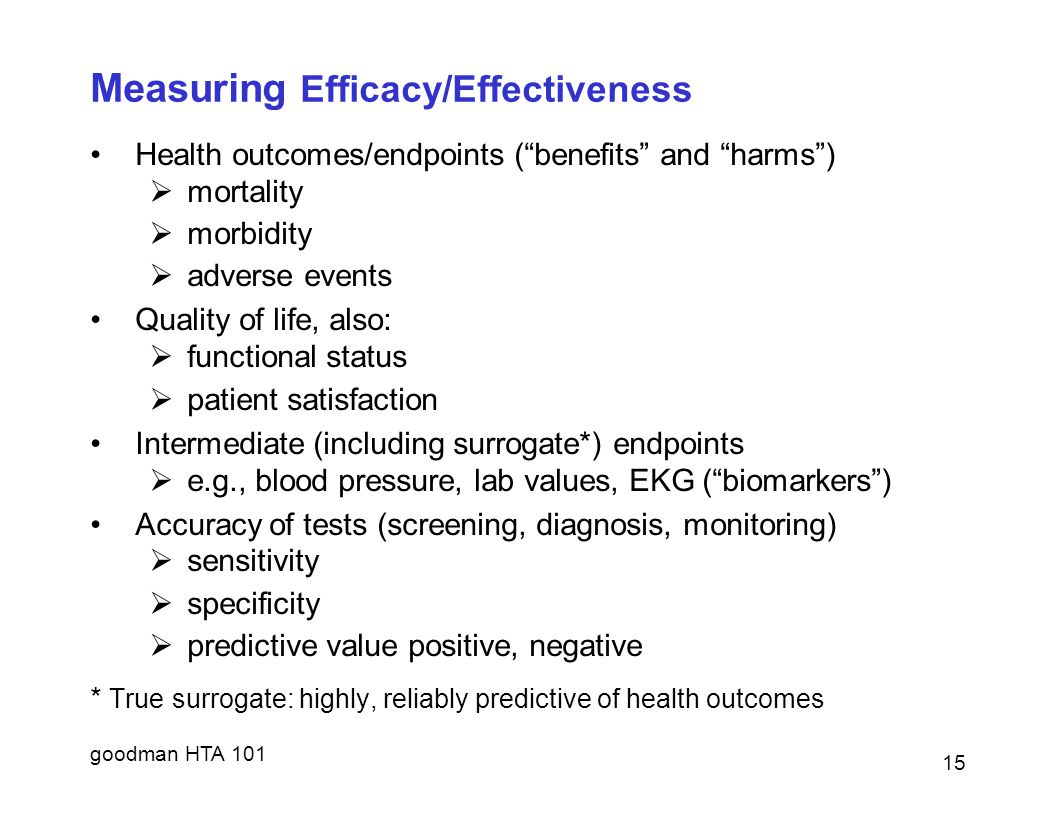 Measuring Efficacy/Effectiveness