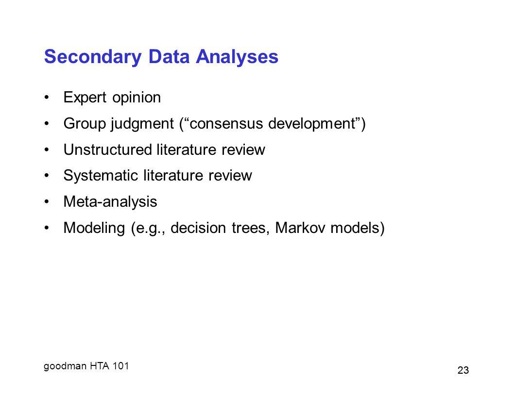 Secondary Data Analyses