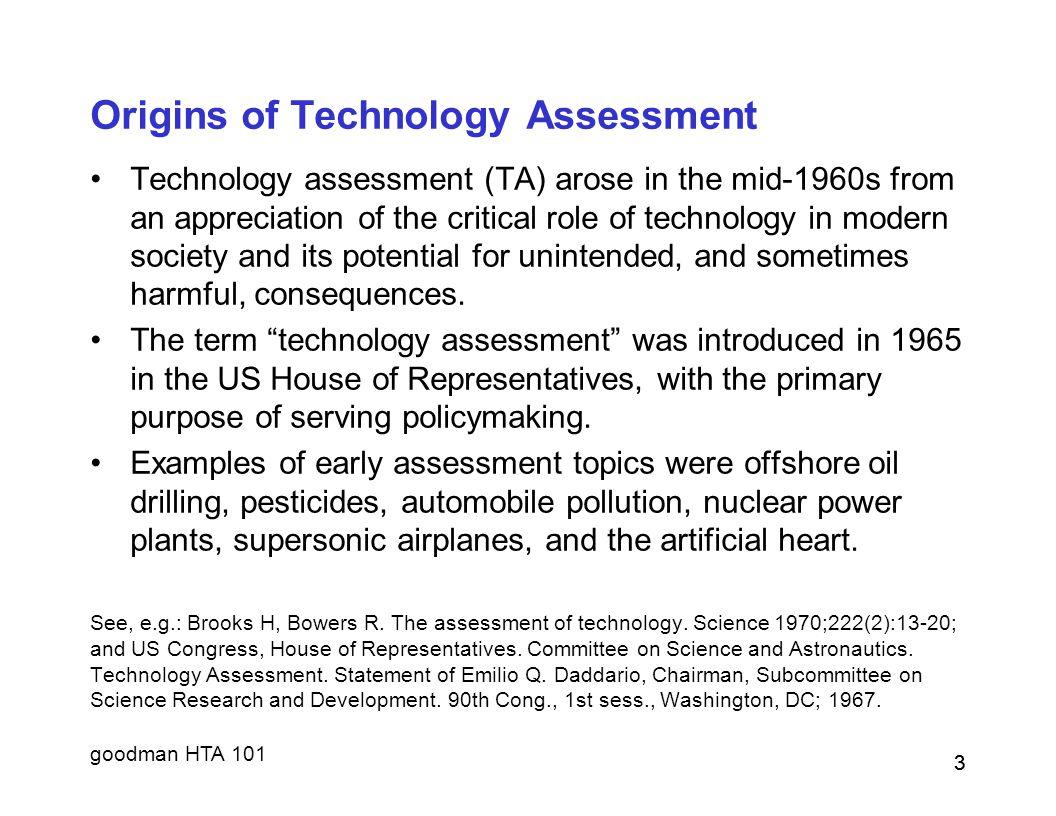Origins of Technology Assessment
