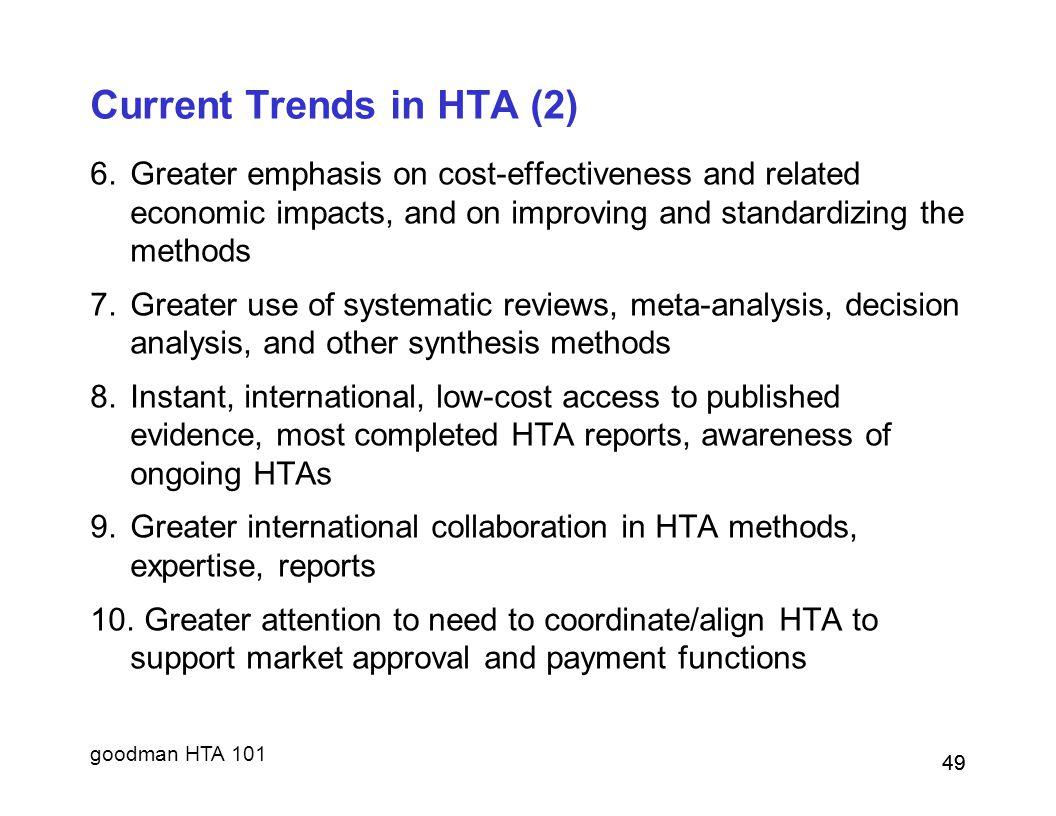 Current Trends in HTA (2)