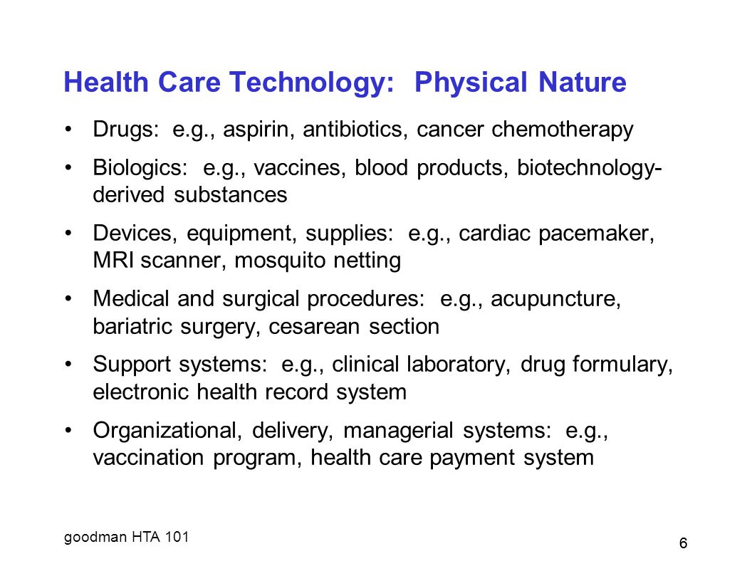 Health Care Technology: Physical Nature