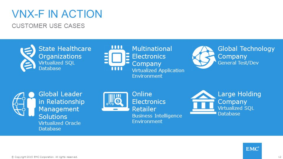 VNX-F IN ACTION CUSTOMER USE CASES State Healthcare Organizations