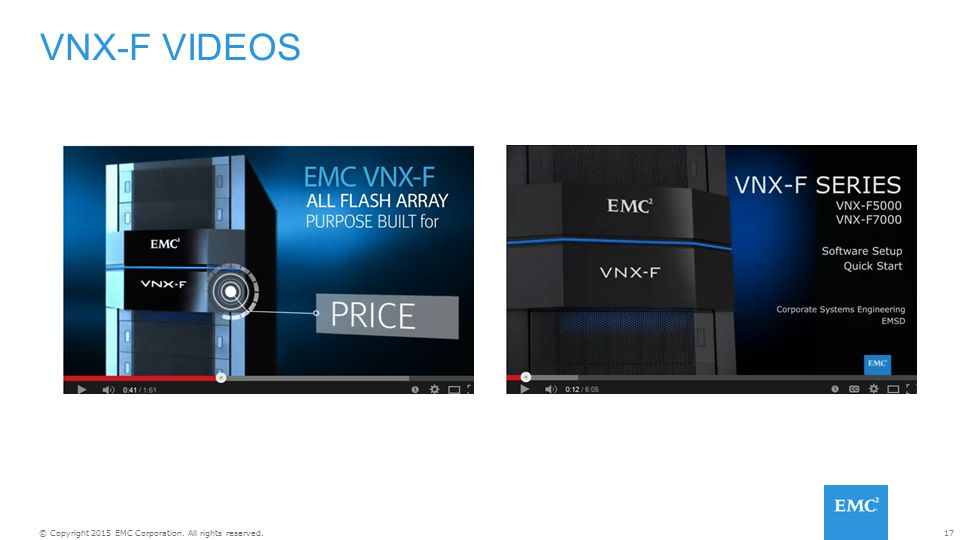 VNX-F VIDEOS If you have the time and are connected, then here are two videos to watch: Promo video for the VNX-F.