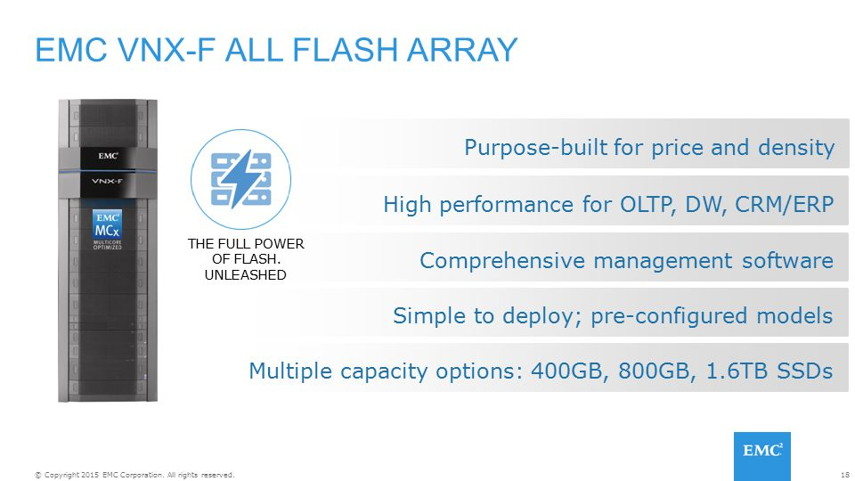 EMC VNX-F ALL FLASH ARRAY