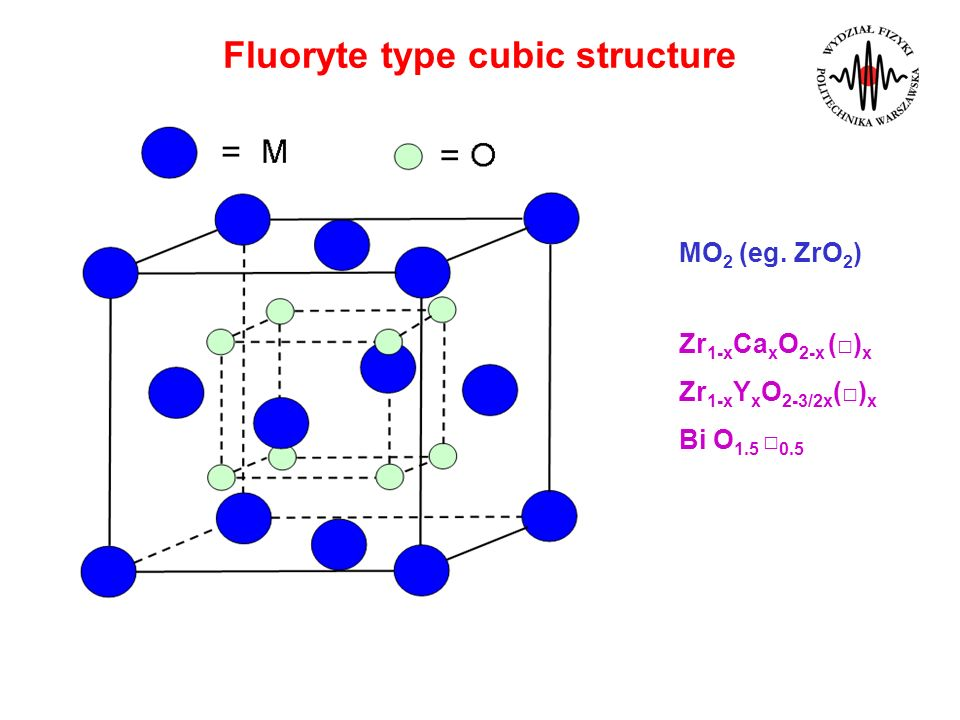 Fluoryte type cubic structure