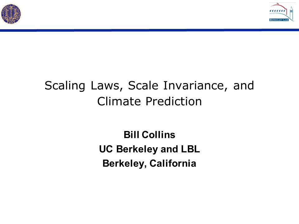 Scaling Laws, Scale Invariance, and Climate Prediction