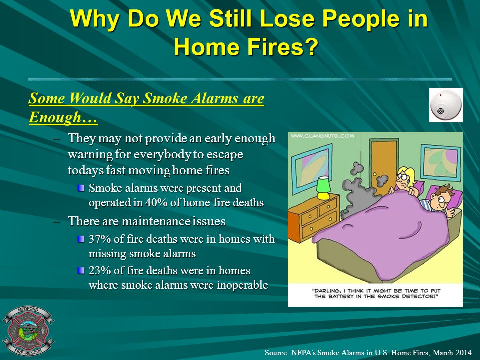 Why Do We Still Lose People in Home Fires