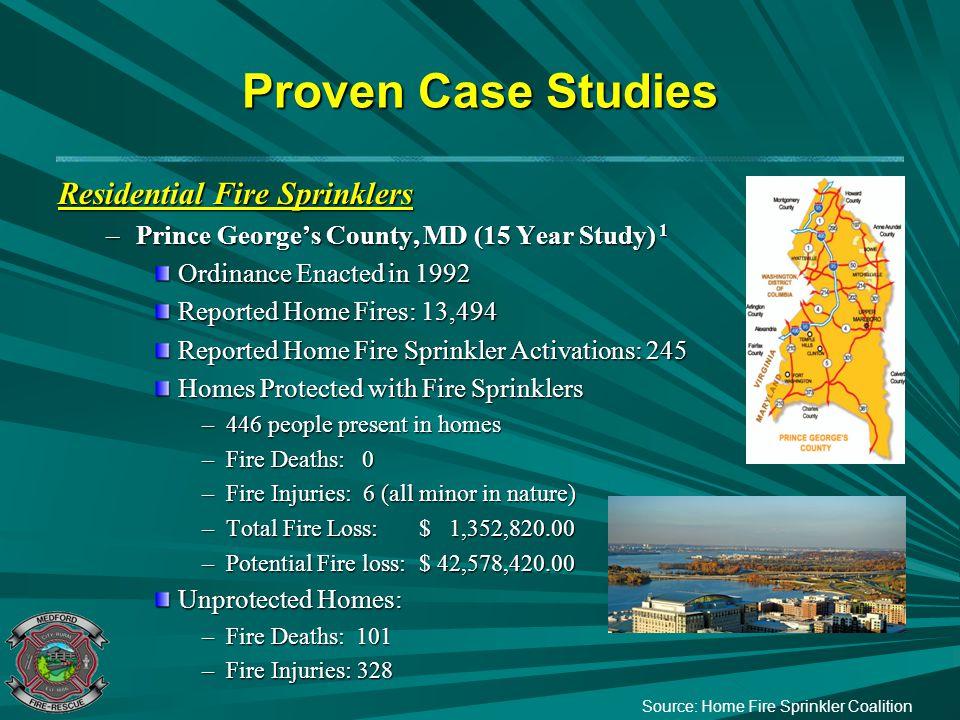 Proven Case Studies Residential Fire Sprinklers
