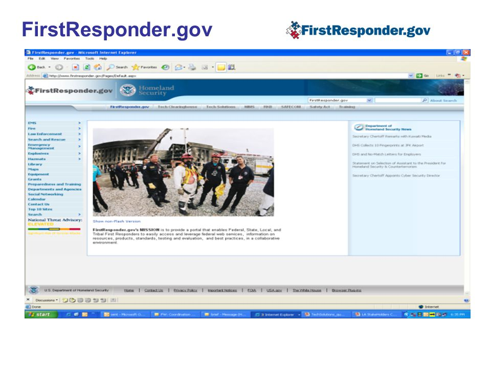 FirstResponder.gov 17 17